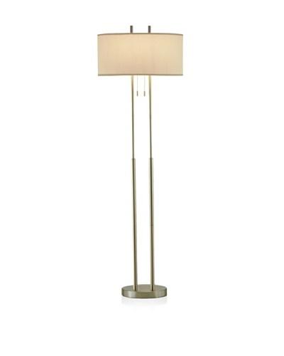 Adesso Duet Floor Lamp, Satin Steel