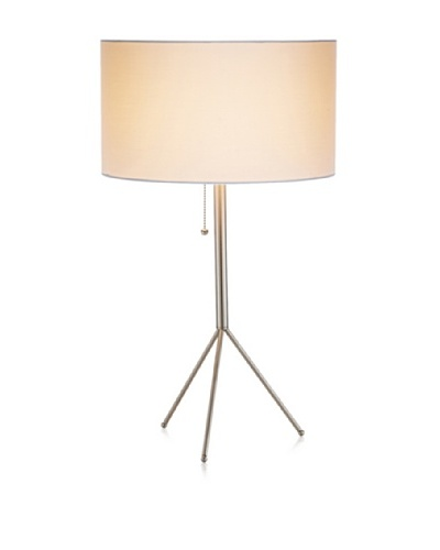 Adesso Tempo Table Lamp, Satin Steel