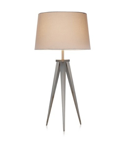 Adesso Producer Table Lamp, Satin Steel