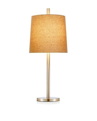 Adesso Jayne Table Lamp, Satin Steel