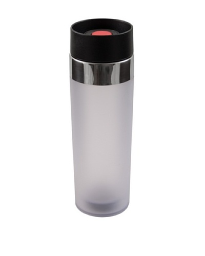 AdNArt Mezzo Acrylic Tumbler with Drink-from-Anywhere Spout [Grey]