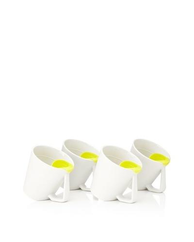 AdNArt Set of 4 Tea Tilt Mugs, Yellow, 14-Oz.