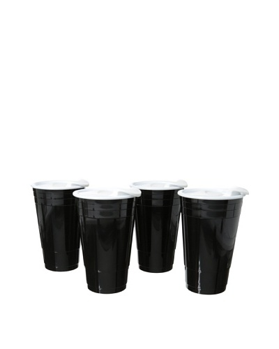 AdNArt Set of 4 Fun Party Cup [Black]