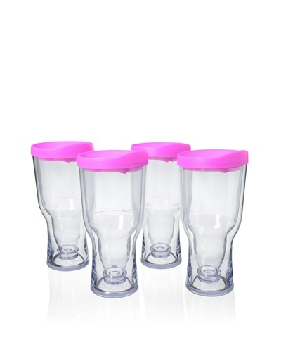 AdNArt Set of 4 Brew to Go, Pink