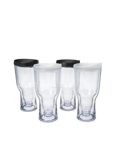AdNArt Set of 4 Brew to Go, Black/White