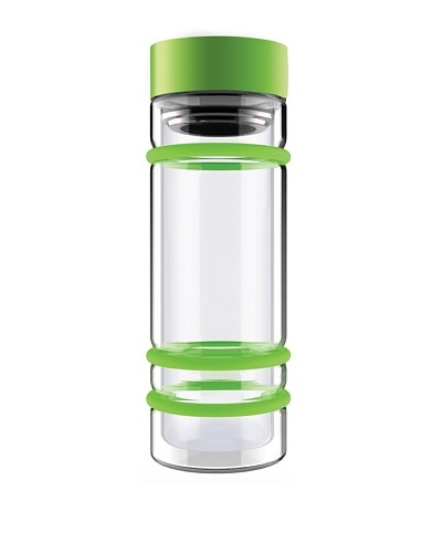 AdNArt Bumper Bottle Double Wall Glass Bottle with Tea Infuser and Bumpers
