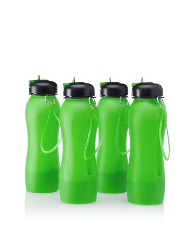 AdNArt Set of 4 Music-on-the-Go Beat Bottles, Green, 18-Oz.