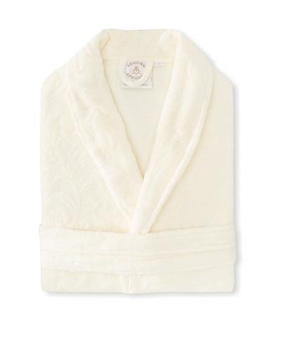 Aegean Apparel Women's Scroll Emboss Plush Robe