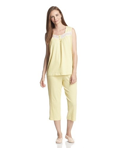 Aegean Apparel Women's Gauze Tank & Capri PJ Set