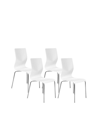 Aeon Set of 4 Lisi Bentwood Chairs, White