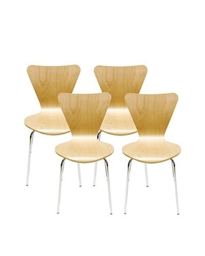 Aeon Set of 4 Lexi Bentwood Chairs, Beech