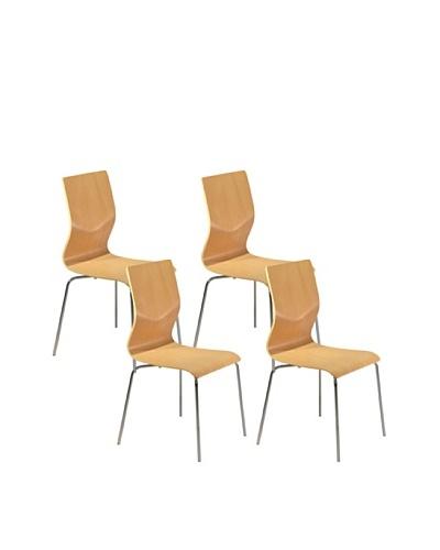 Aeon Set of 4 Lisi Bentwood Chairs, Beech