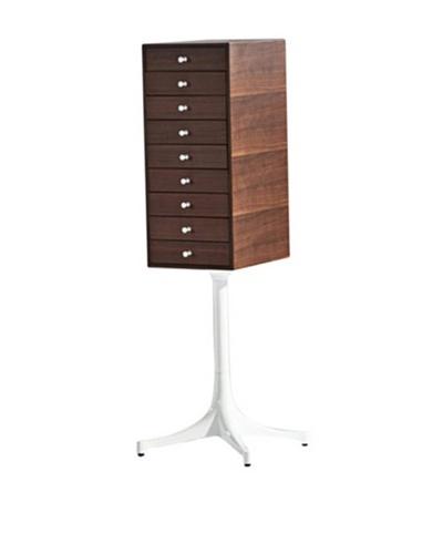 Aeon Furniture Walnut Chest, Brown/White