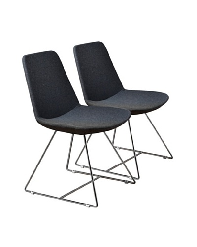Aeon Furniture Set of 2 Karen Side Chairs, Grey