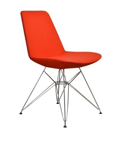 Aeon Furniture Paris 3 Side Chair, Set of 2, Orange