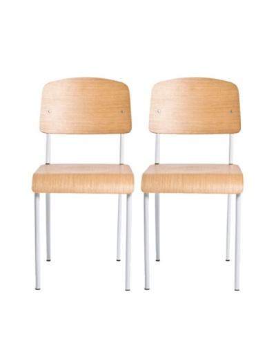 Aeon Furniture Set of 2 Sally Chairs, White