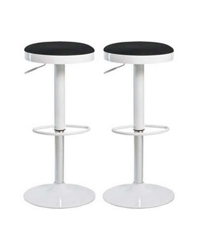 Aeon Furniture Set of 2 Carrie Stools, Black