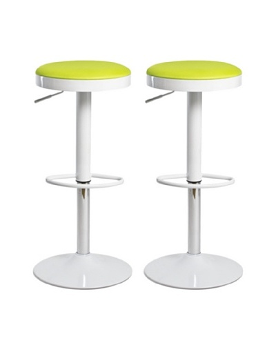 Aeon Furniture Set of 2 Carrie Stools, Green
