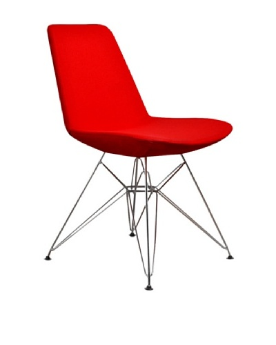 Aeon Furniture Paris 3 Side Chair, Red