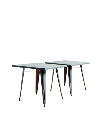 Aeon Furniture Set of 2 Garvin Tables, Silver
