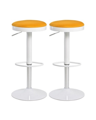 Aeon Furniture Set of 2 Carrie Stools, Orange