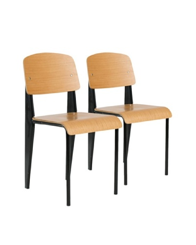 Aeon Furniture Set of 2 Sally Chairs, Black