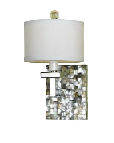 Candice Olson Lighting Sahara Candle-Base Sconce, Abalone/White