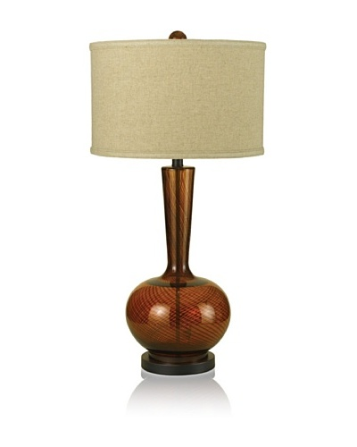 Candice Olson Lighting Fitzgerald Hand-Blown Table Lamp, Amber/Off-White