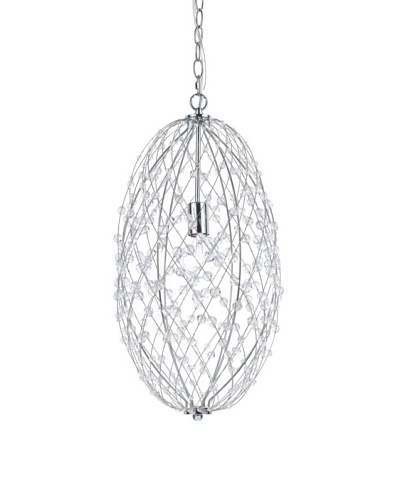 Silver Web Hanging Pendant [Polished Chrome Oval]