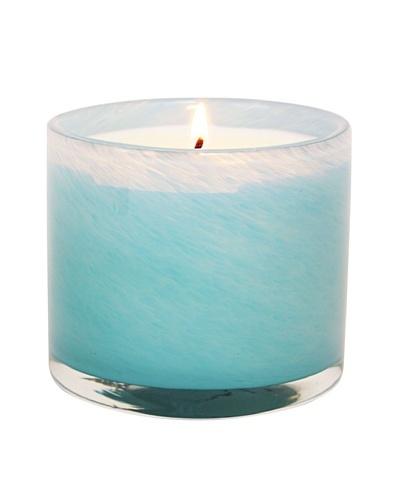 Alassis Set of 4 7.5-Oz. Art Glass Candles, Seagrass Musk, Sky Blue