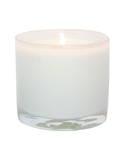 Alassis Set of 4 7.5-Oz. Art Glass Candles, Honeysuckle and Lily, White