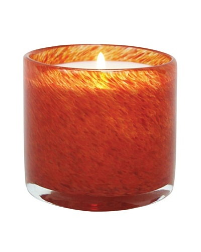 Alassis Set of 4 7.5-Oz. Art Glass Candles, Mandarin and Passionfruit, Red