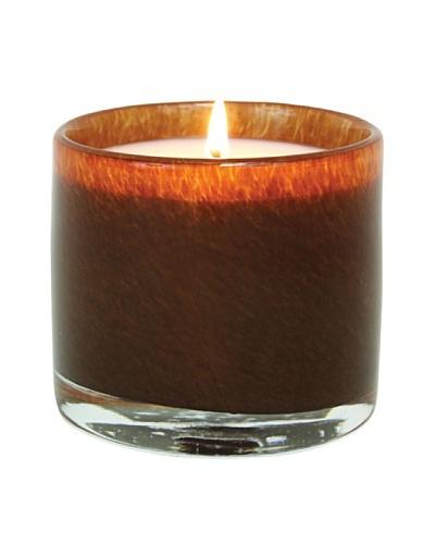 Alassis Set of 4 7.5-Oz. Art Glass Candles, Amber Vanilla, Brown