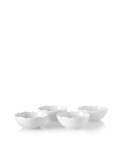 Alessi Set of 4 Dressed Porcelain Bowls, White