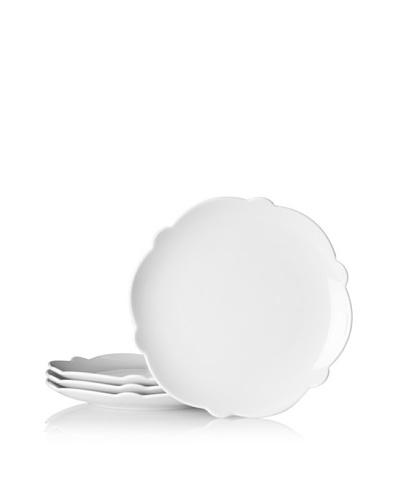 Alessi Set of 4 Dressed Porcelain Side Plates, White