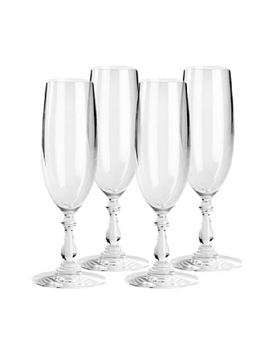 Alessi Set of 4 Dressed 8-Oz. Champagne Flutes
