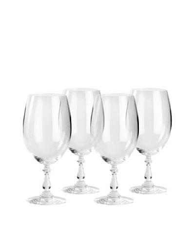 Alessi Set of 4 Dressed 21.25-Oz. Red Wine Glasses