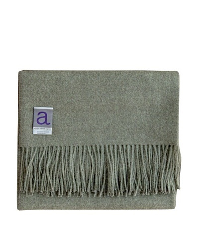 Alicia Adams Alpaca Melange Alpaca-Blend Throw, Forest Green, 51 x 71