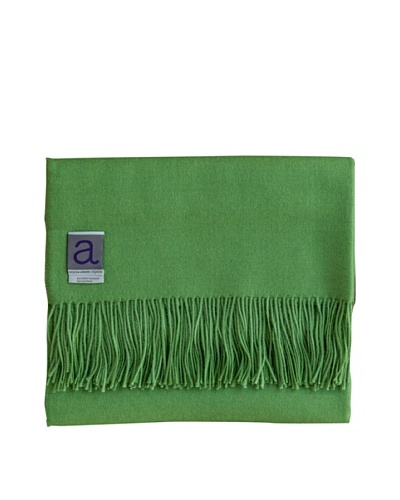 Alicia Adams Alpaca Melange Alpaca-Blend Throw, Green, 51 x 71