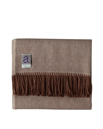 Alicia Adams Alpaca Maya Alpaca-Blend Throw, Whiskey, 51 x 71