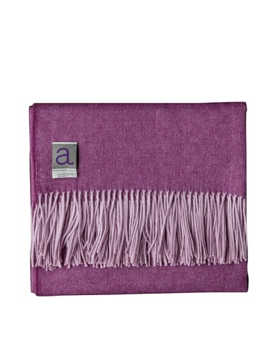 "Alicia Adams Alpaca Maya Alpaca-Blend Throw, Violet, 51"" x 71"""