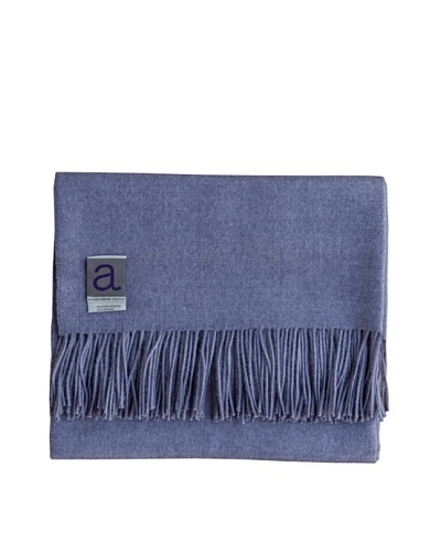 Alicia Adams Alpaca Melange Alpaca-Blend Throw, Lavender, 51 x 71