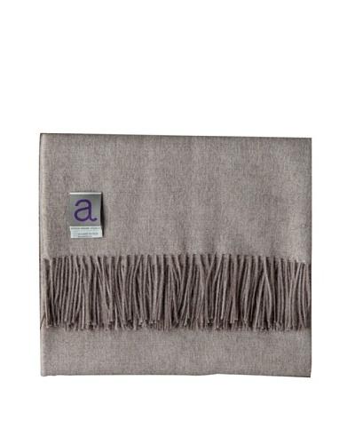 "Alicia Adams Alpaca Maya Alpaca-Blend Throw, Taupe, 51"" x 71"""