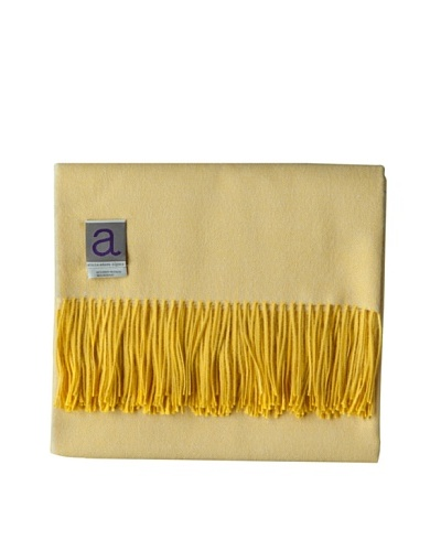 Alicia Adams Alpaca Maya Alpaca-Blend Throw, Citrus, 51 x 71