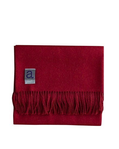Alicia Adams Alpaca Melange Alpaca-Blend Throw, Red, 51 x 71