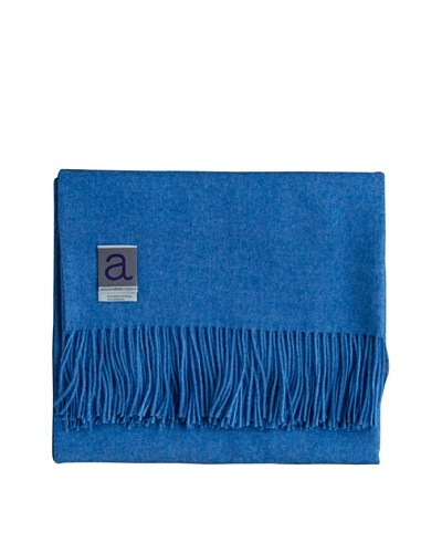 "Alicia Adams Alpaca Melange Alpaca-Blend Throw, Blue, 51"" x 71"""