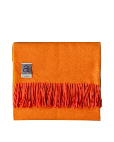Alicia Adams Alpaca Maya Alpaca-Blend Throw, Tangerine, 51 x 71