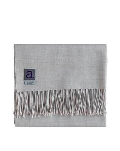 Alicia Adams Alpaca Melange Alpaca-Blend Throw, Beige, 51 x 71