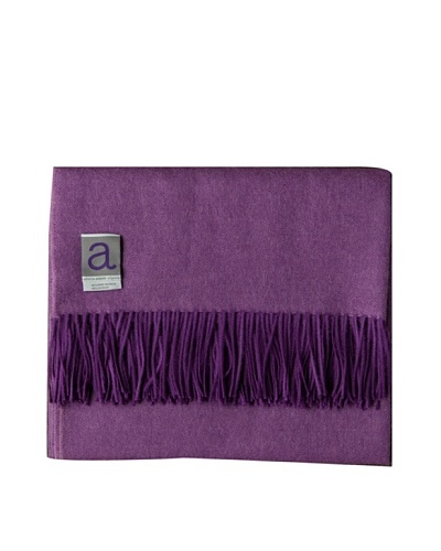 Alicia Adams Alpaca Maya Alpaca-Blend Throw, Purple, 51 x 71