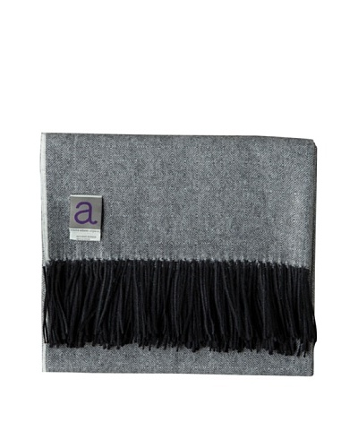 Alicia Adams Alpaca Maya Alpaca-Blend Throw, Black, 51 x 71